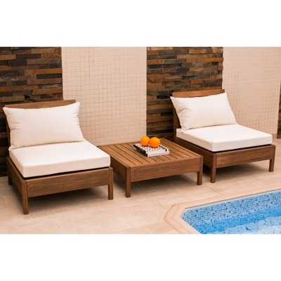 3pc grass eucalyptus chairs with cushions and coffee table brown alaterre furniture