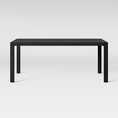 henning 6 person rectangle patio dining table black project 62