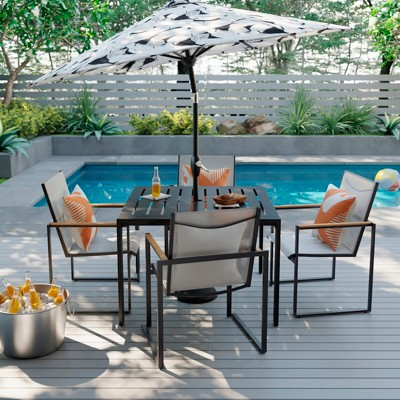 henning 5pc patio dining set white project 62