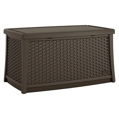suncast elements resin patio storage coffee table java