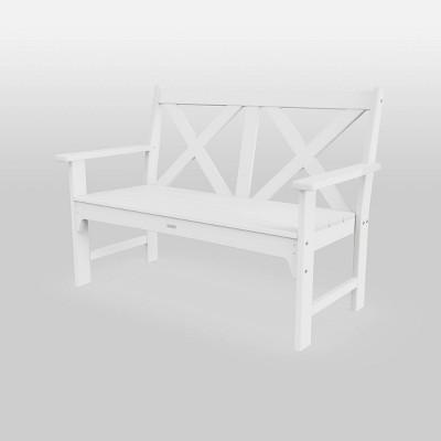 shawboro polywood outdoor patio bench white threshold