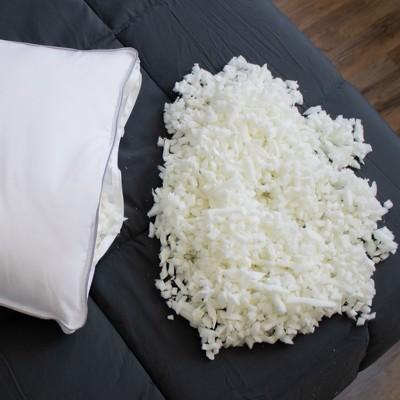 eluxury shredded memory foam pillow king
