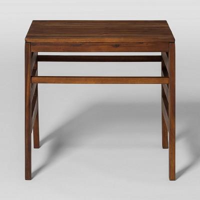 modular outdoor acacia side table dark brown saracina home