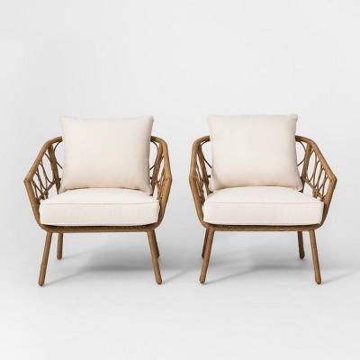 britanna 2pk patio club chair natural opalhouse