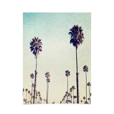 18 x24 bree madden california palm trees unframed wall poster print green deny designs