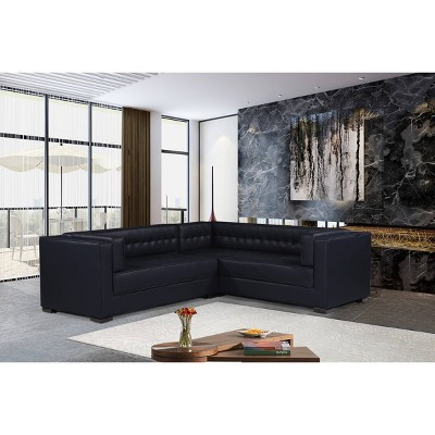jasper right facing sectional sofa navy chic home design