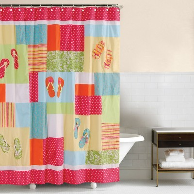 c f home flip flops beach shower curtain