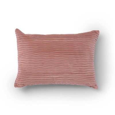 14 x20 oza velvet lumbar throw pillow blush sure fit