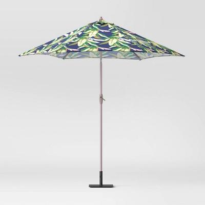 9 round patio umbrella duraseason fabric banana leaf threshold