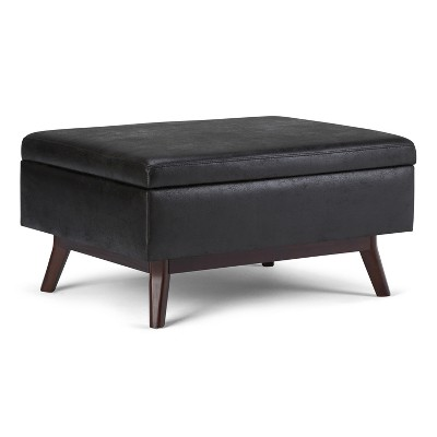 34 ethan coffee table storage ottoman distressed black wyndenhall