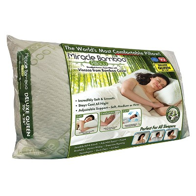 as seen on tv miracle bamboo pillow queen shredded memory foam pillow with viscose from bamboo cover