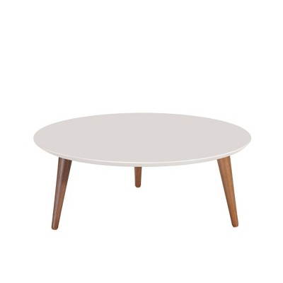 23 62 moore round low coffee table off white manhattan comfort