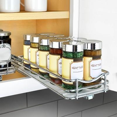 lynk professional slide out spice rack upper cabinet organizer 4 wide