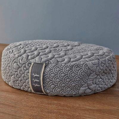 brentwood home crystal cove meditation cushion buckwheat zafu oval floor pillow made in california