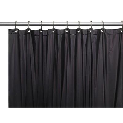 carnation home fashions 84 extra long 5 gauge vinyl shower liner with metal grommets 72 x 84 black