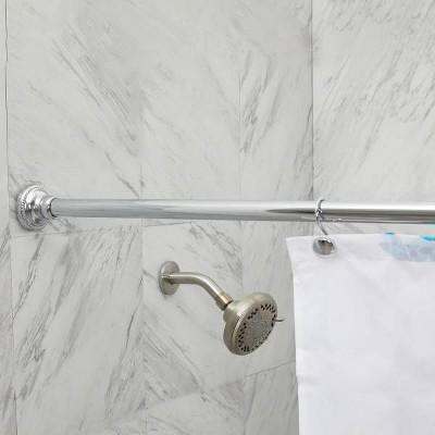 finial shower curtain rod chrome elegant home fashions