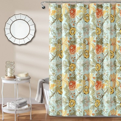 sydney shower curtain green yellow lush decor
