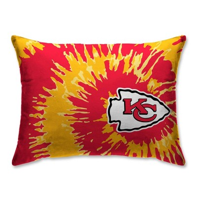nfl kansas city chiefs tie dye plush bed pillow