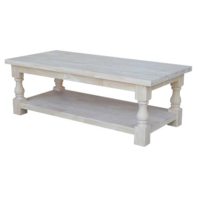 tuscan coffee table unfinished international concepts
