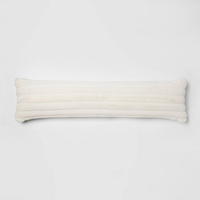 bed lumbar channeled faux fur pillow cream project 62 nate berkus