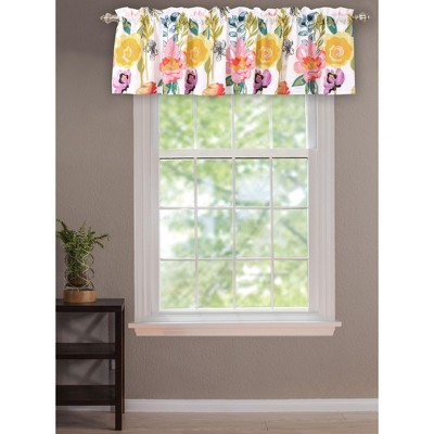 greenland home fashion high quality watercolor dream window valance 84 x19 in multicolor