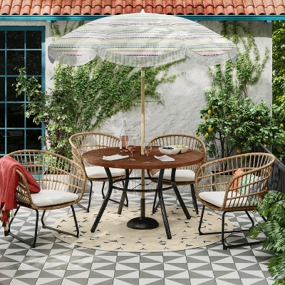 southport 5pc patio dining set natural opalhouse