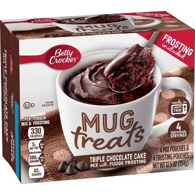 betty crocker mug treats triple chocolate cake mix 4ct 12 5oz