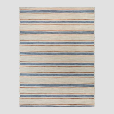 5 x 7 reversible stripe outdoor rug tan threshold