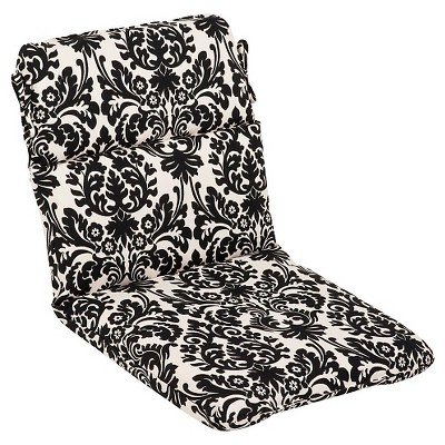 outdoor seat pad dining bistro cushion black white floral