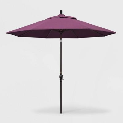 9 pacific trail patio umbrella push button tilt crank lift sunbrella iris california umbrella
