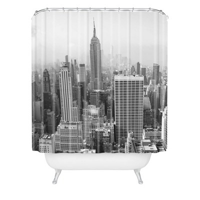 bethany young photography in a new york state of mind shower curtain black white deny designs