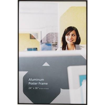 staples aluminum poster frame 24 x 36 810918