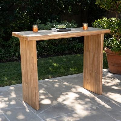 venalese rectangle outdoor patio bar table aiden lane