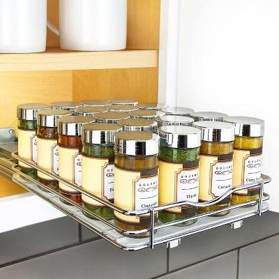 lynk professional 8 wide slide out spice rack upper cabinet organizer