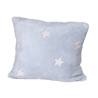 lakeside glow in the dark plush accent throw pillow novelty cushion light blue