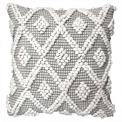 20 x20 oversize adelyn square throw pillow cover gray lush decor