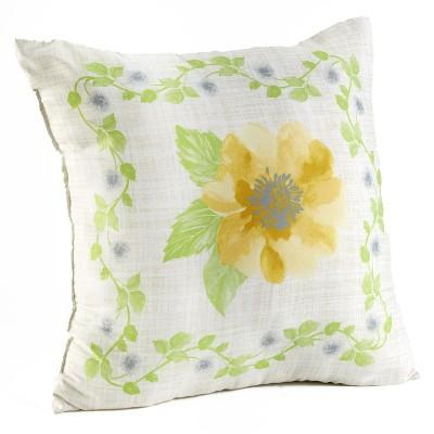 lakeside floral vine standard size decorative accent pillow decorative case