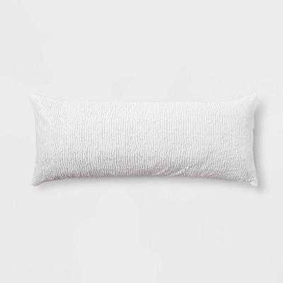cut plush body pillow cover white room essentials