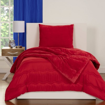 crayola playful plush red comforter set twin 2pc
