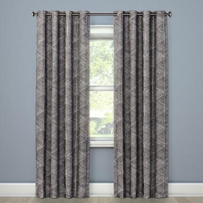 84 x50 modern stroke blackout curtain panel gray project 62