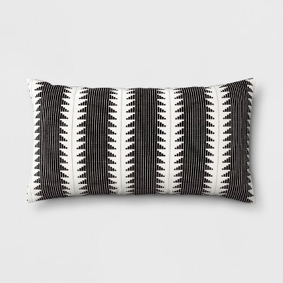oversize woven global lumbar throw pillow black threshold