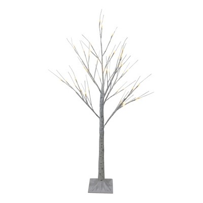 northlight 4 led lighted white birch tree outdoor decoration white lights