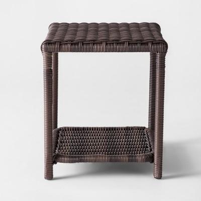 monroe wicker patio side table threshold