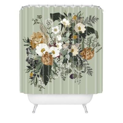 iveta abolina paloma midday shower curtain green deny designs