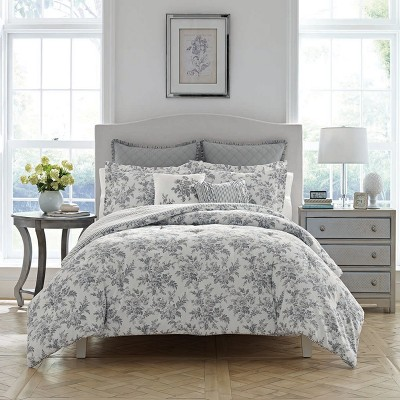twin gray annalise comforter set laura ashley