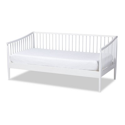 twin renata wood spindle daybed white baxton studio