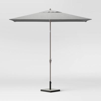 10 rectangular patio umbrella duraseason fabric pebble ash pole project 62