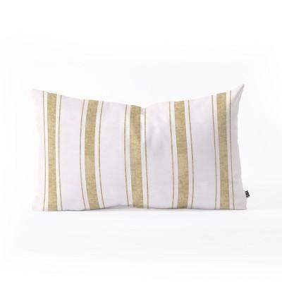 holli zollinger aegean jute stripe lumbar throw pillow gold deny designs