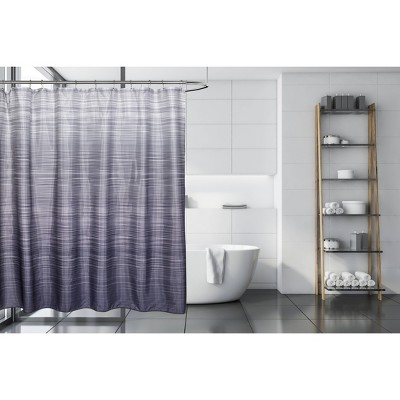 ombre line shower curtain gray moda at home