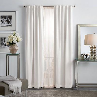 set of 2 84 x37 park avenue metallic blackout curtain panels blush martha stewart